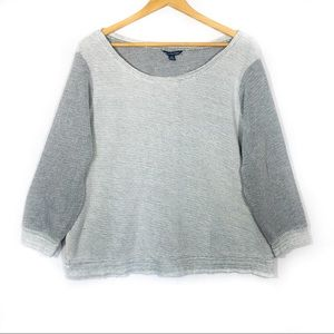 American Eagle Cross Back Cotton Blend Sweater